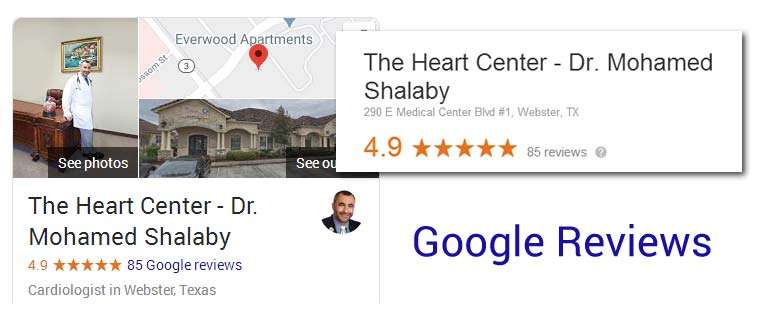 Google Reviews for Dr. Shalaby