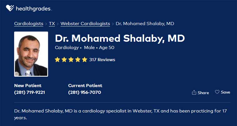 Health Grades for Dr. Shalaby